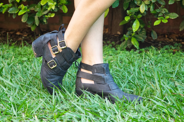 ankle booties, cut out booties, leather booties