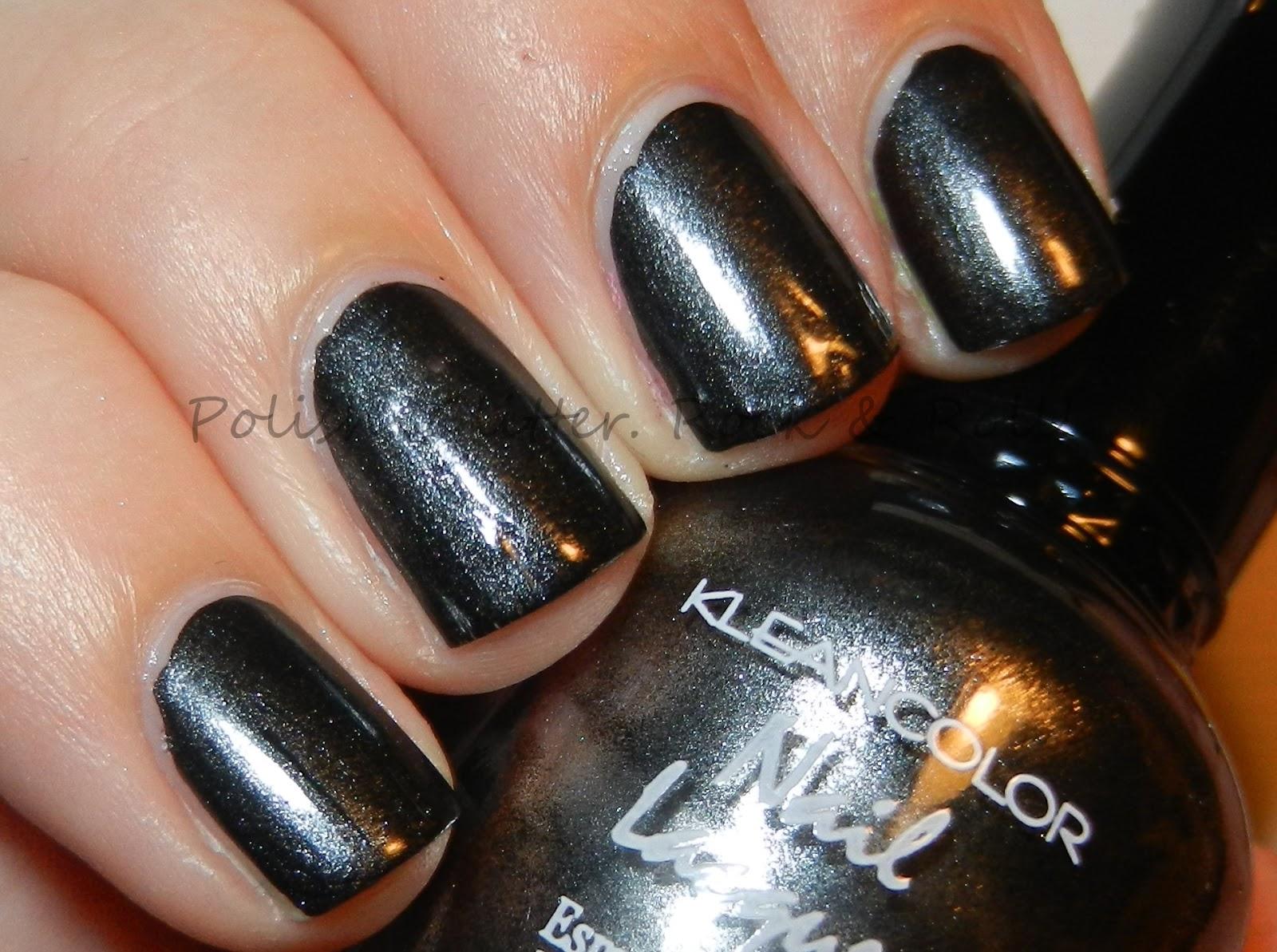 Metallic Black Nail Polish | Best Nail Designs 2018