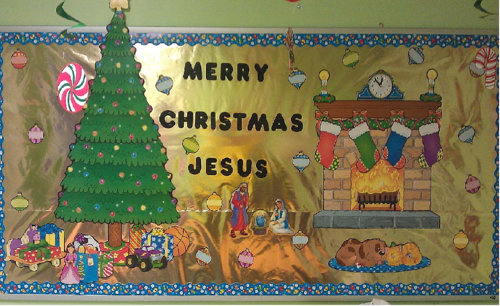 Church house collection christmas bulletin boards