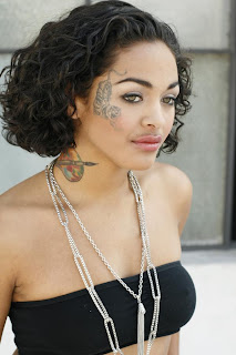 Girls Face Tattoo Design Photo Gallery - Face Tattoo Ideas for Girls