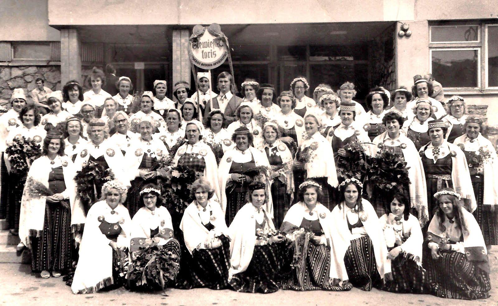 Apvienotais sieviešu kora koncerts Ogrē . Varbūt tas pats 1977. gads