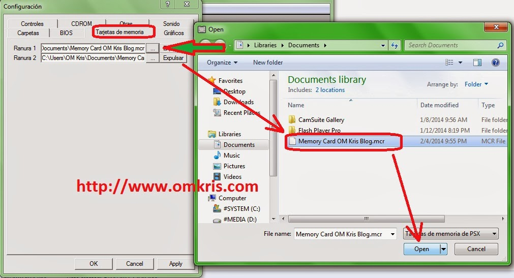 Cara Membuat & Mengatur Save Memory Card pSX Portable Game PS1 .EXE OM Kris blog