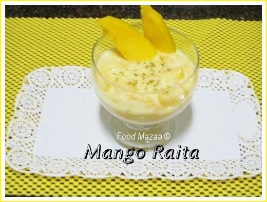 mango raita mango kulfi aam ras with poori cook with kary mango ...
