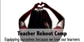 teacher making a heart shape with her hands