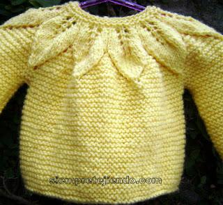 Sarı yakadan başlama bebek hırkası modeli