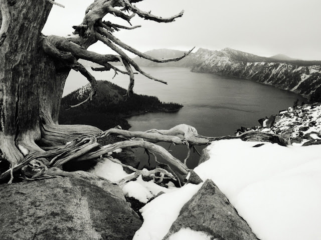 Black And White Lake View Picture