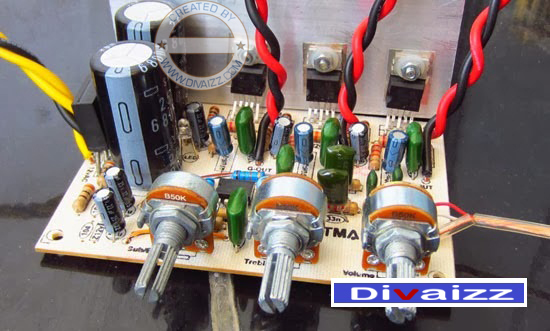 Power Amplifier Kit 2.1 System -TDA2050 www.divaizz.com