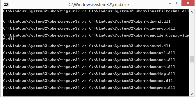 WMI Rebuilder for Windows Screen shot