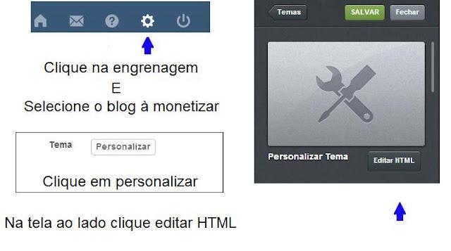 Google Adsense como colocar em seu Tumblr e monetizar seu Blog. 3