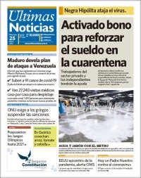 25/03/2020 PRIMERA PAGINA DIARIO DE VENEZUELA