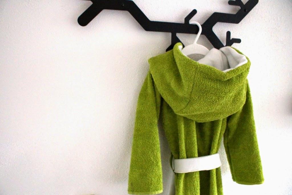 DIY towel robe - huisje boompje boefjes