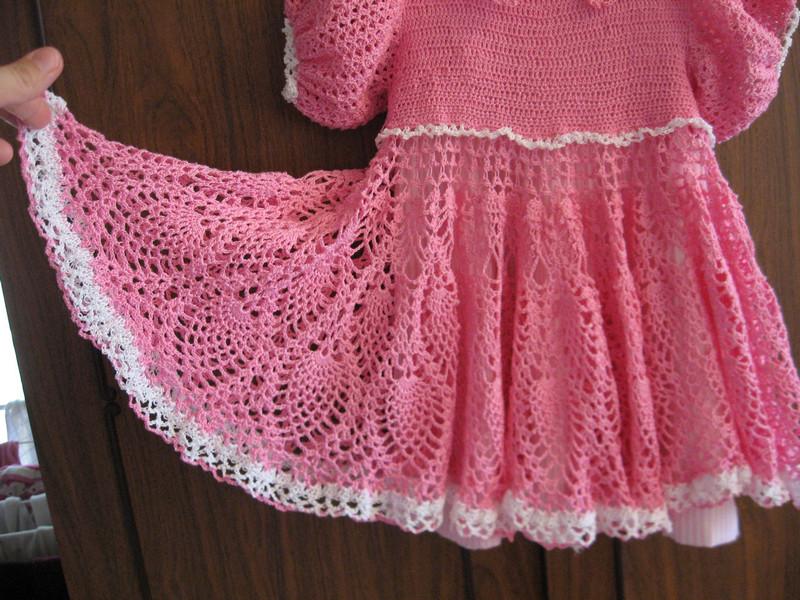 Платье связанное из снежинок