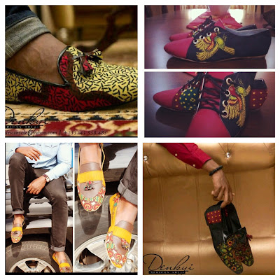 Mens African Print shoes - Denkyi - iloveankara.blogspot.co.uk
