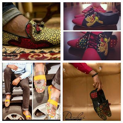 Mens African Print shoes - Denkyi - iloveankara.blogspot.co.uk