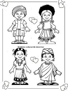 Deberes y Derechos del Niño para dibujar pintar colorear e imprimir