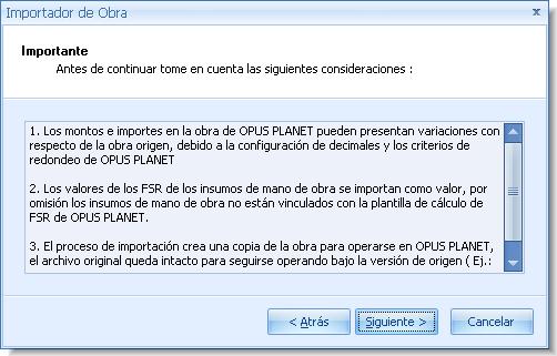 Opus Planet 006 Importar Obra de Opus 2010