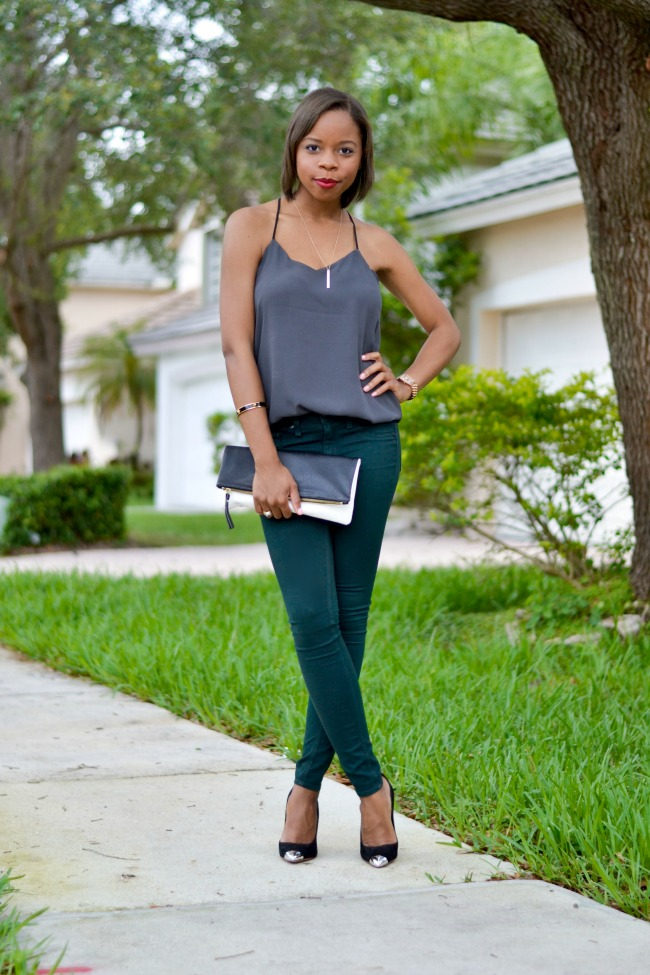 Date Night Look | Cami & Skinny Jeans