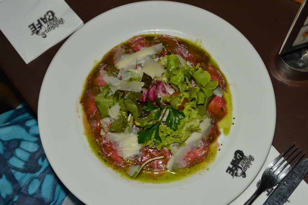 Belgian Beer Cafe Patong carpaccio