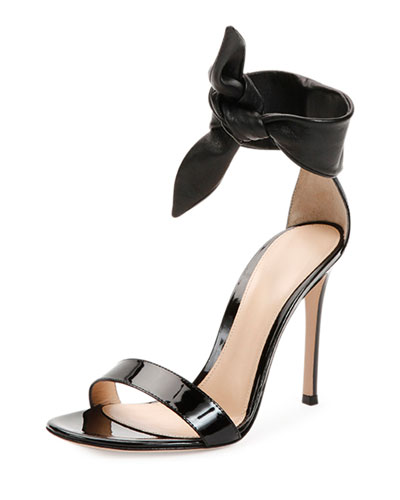 Gianvito Rossi Black High Heeled barely there stiletto sandals