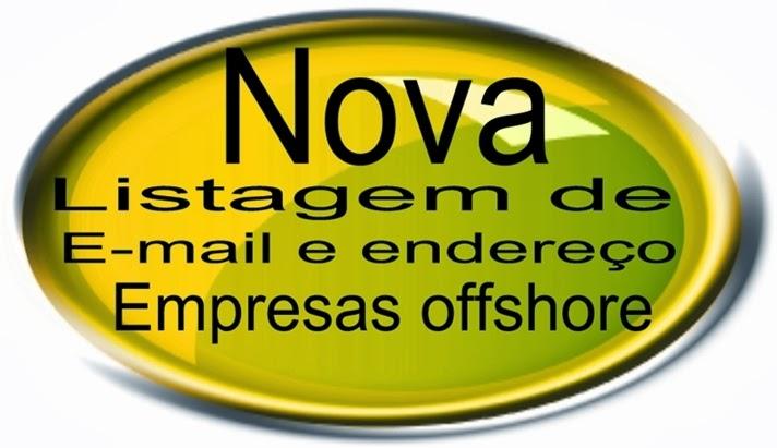 Nova listagem de E-mail e endereços de empresas offshore