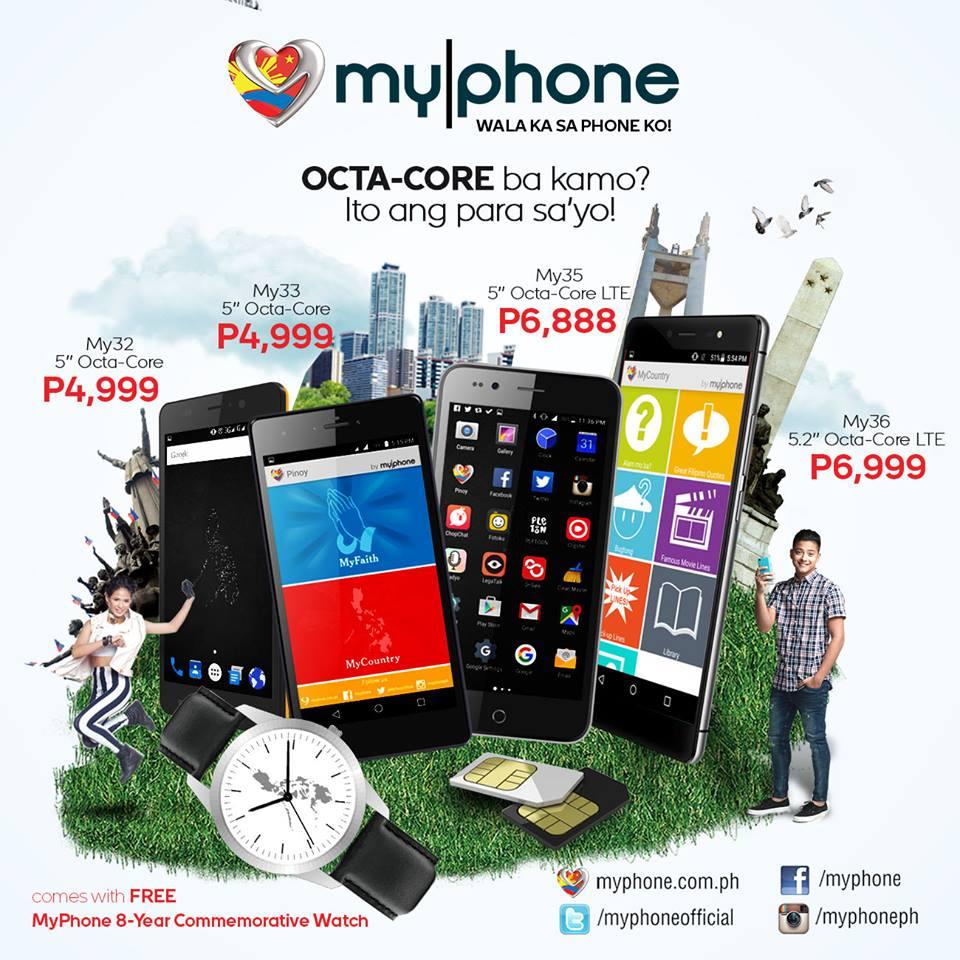 Octa Core Myphone My32, My33, My35 and My36 Price