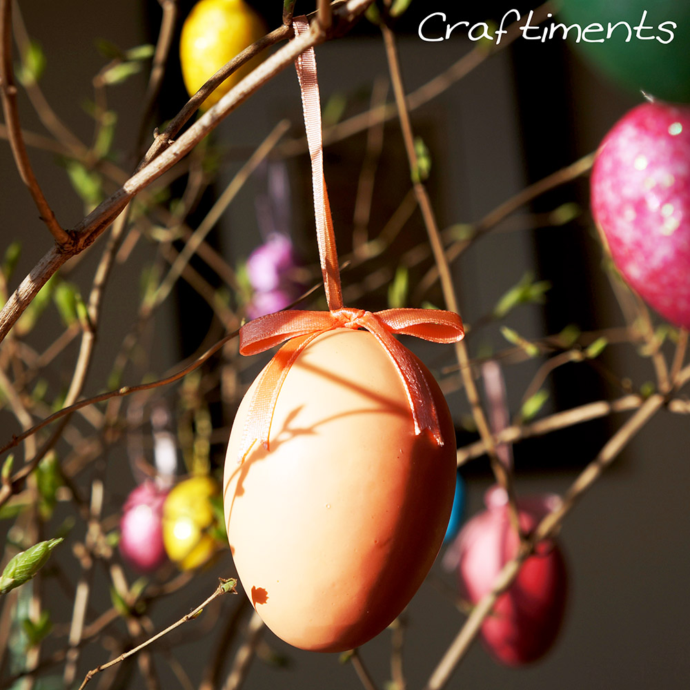 Styrofoam Easter egg ornaments
