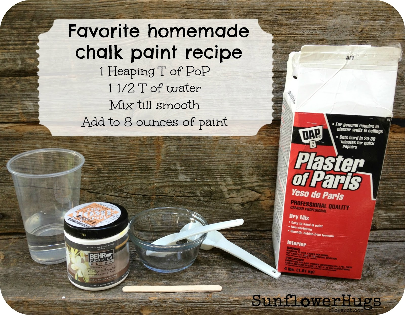 Making Chalkboard Paint With Plaster Of Paris