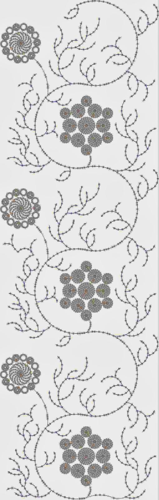 Blomme ontwerp Oral patroon