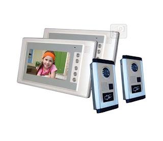 SY-803+D9ID-white 2/2 - комплект видео домофона с RFID (2 камеры, 2 монитора)