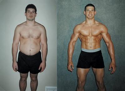 Antes e Depois da Musculação