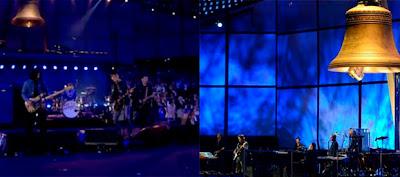 Diferentes momentos de la ceremonia inaugural Londres 2012