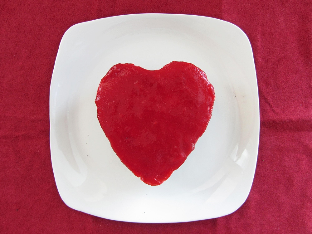mini heart shaped raspberry white chocolate cheesecake plain