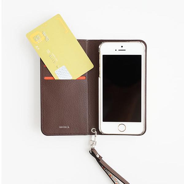 invite.L / インバイトエル カード収納できるストラップ付き iPhoneケース Folio