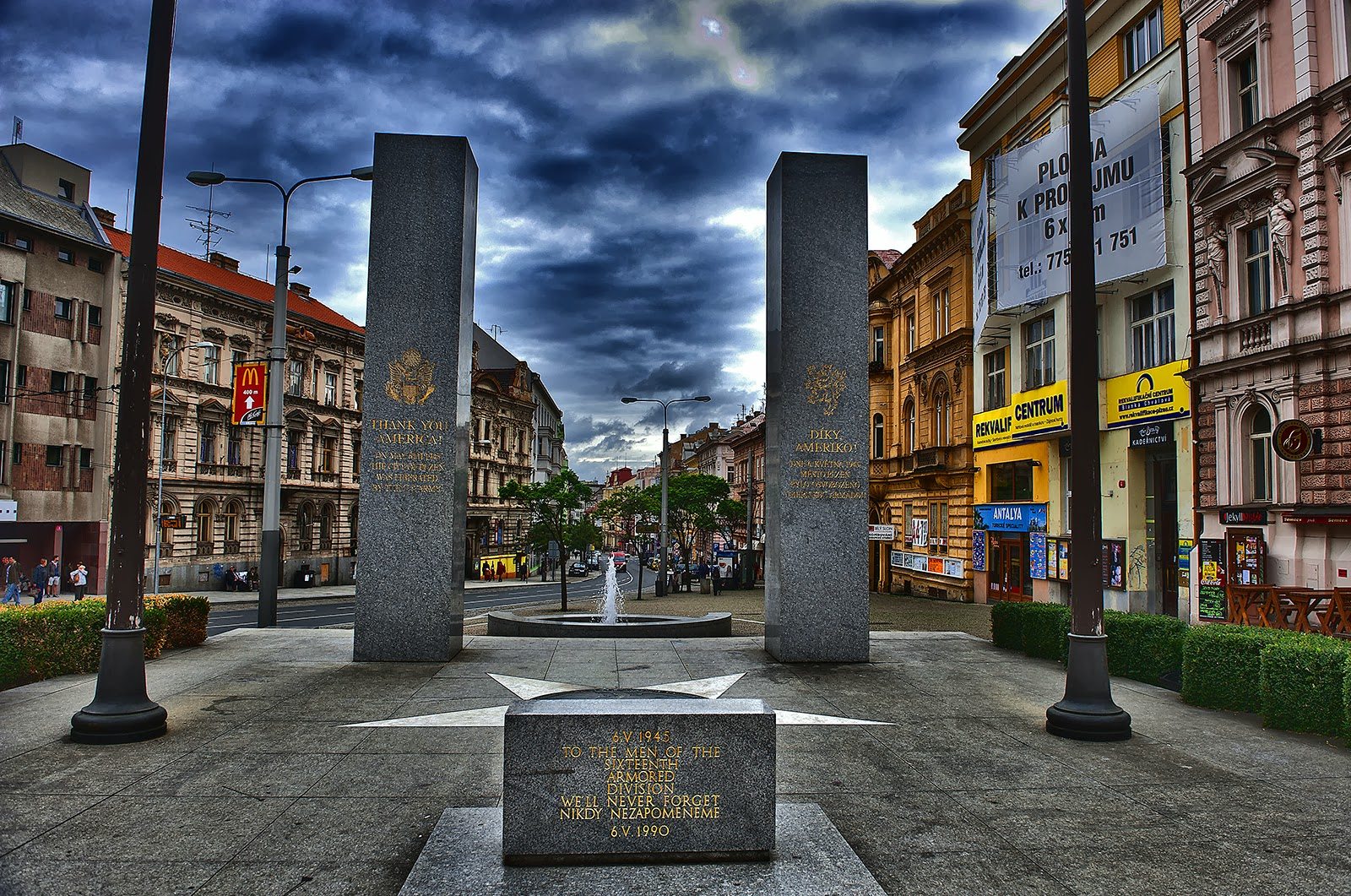 Plzen, Pilsen, Czech Republic, Plzen 16th Army, Plzen liberation monument