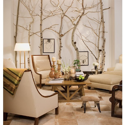 Lo que puedes hacer con ramas y troncos de arboles for Environmentally friendly interior design