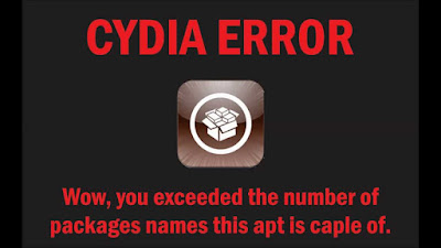 Wow, you exceeded the Cydia
