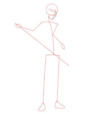 menggambar sasuke uchiha black costume langkah 4