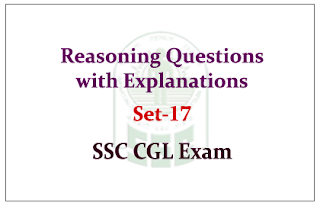 Reasoning Questions with Explanations for SSC CGL Exam