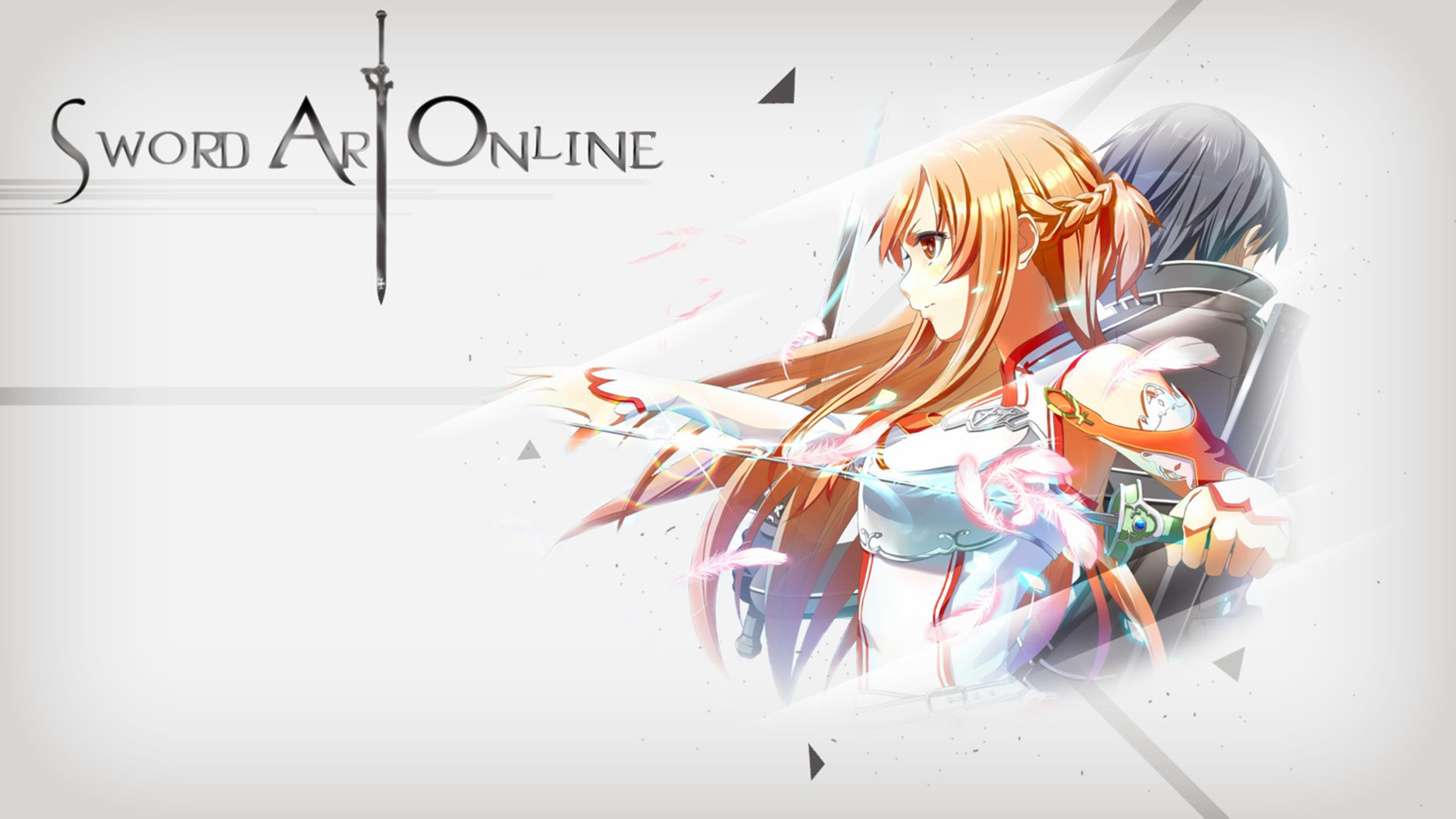Asuna Sword Cute Armor Sword Art Online Green Field Anime HD Wallpaper ...