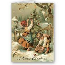 by the 1860s popular designs were christmas feasts church bells snowbound mail coaches and turkey and plum puddings