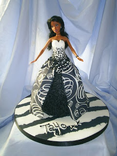 black Barbie Birthday Cake