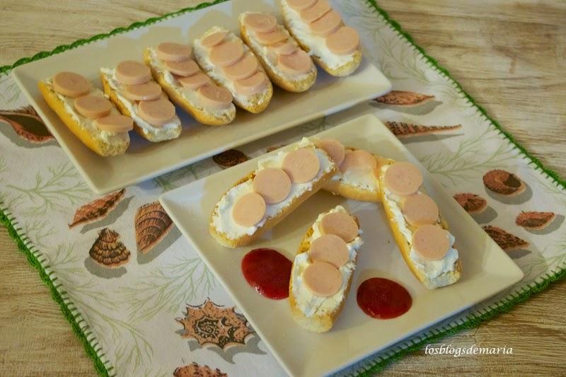 Briochée de queso y bocaditos de pechuga de pavo