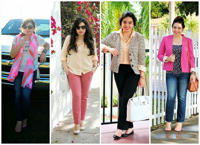 march pink spring outfits