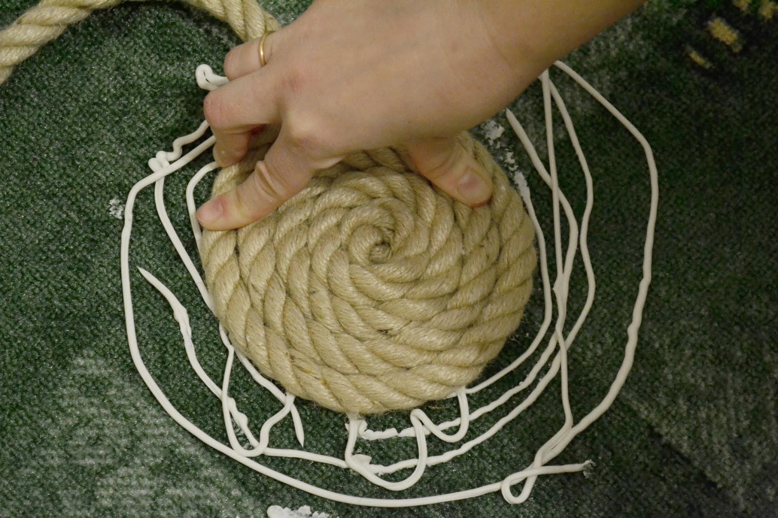 Верёвочный коврик своими руками 76