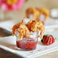 Coconut Shrimp with Strawberry-Chipotle Dipping Sauce