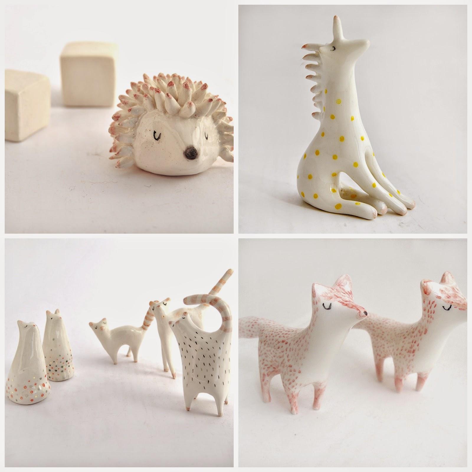 Barruntando cerámica figuras