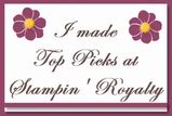 Stampin' Royalty Top Picks Badge
