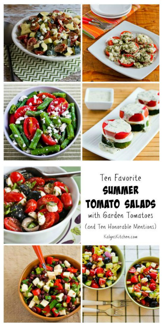 Ten Favorite Summer Tomato Salads with Garden Tomatoes (and ten honorable mentions!) found on KalynsKitchen.com