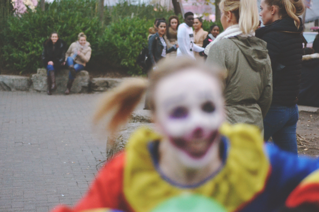Clowns at Thorpe Park