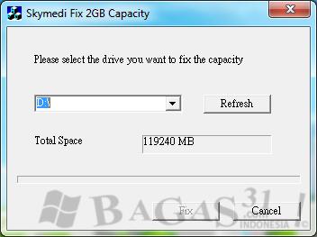 Cara Membuat Flashdisk 1GB Menjadi 2GB - BAGAS31.com